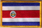 Costa Rica Embroidered Flag Patch, style 08